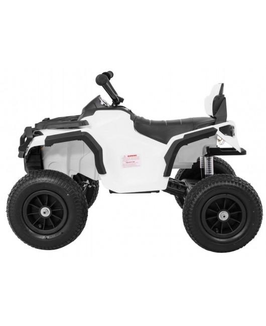 Elektrická štvorkolka Quad ATV nafukovacie kolesá biela